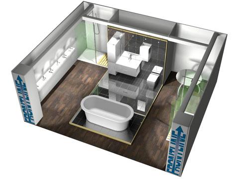 exhibition design 3d render CAD design