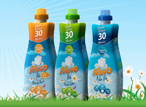 packaging design leeds pure laundry liquid muvo