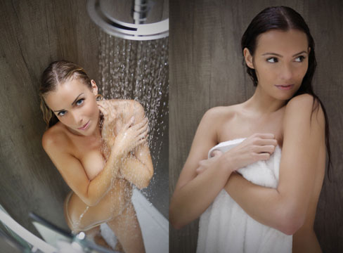 Shower Model studio bathroom photography – shower catalogue shoot | pure