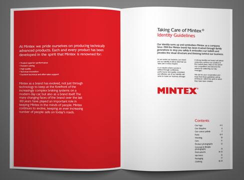 corporate identity brand guidelines logo advertising sizes pure creative marketing mintex