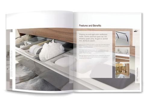 Brochure design - Bathroom furniture brochure for Aquadart ...