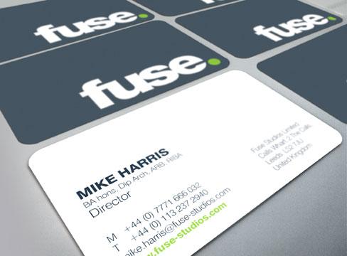 business card design pure leeds fuse stationery corporate literature