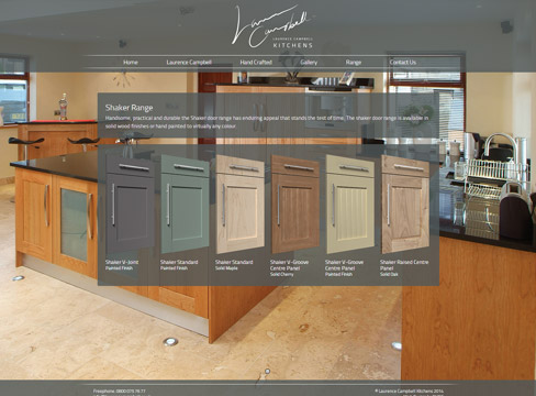Kitchen Website Design 3