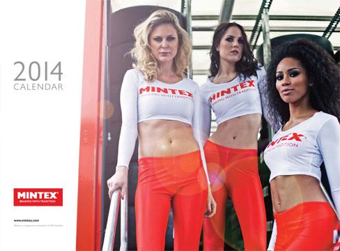 mintex brakes calendar grid girls promotional material pure creative marketing studio leeds donington park britcar