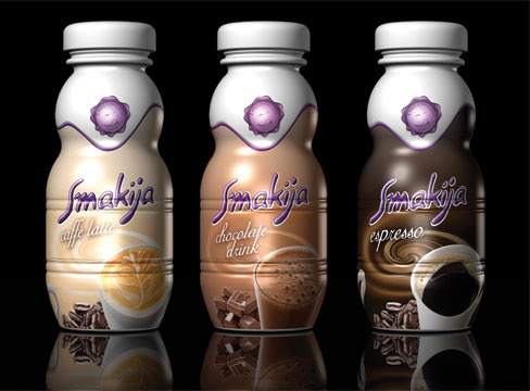 range of coffee drinks packaging designs for bacha pure