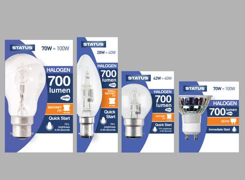 Packaging Design Status Light Bulbs Pure Creative