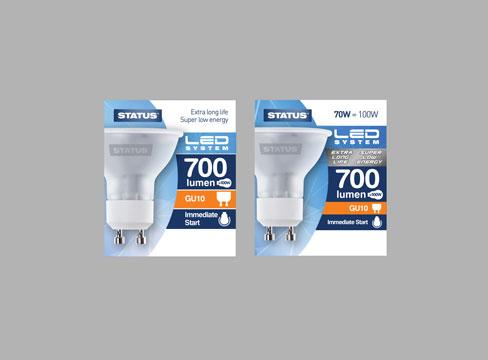 packaging design � status light bulbs pure creative