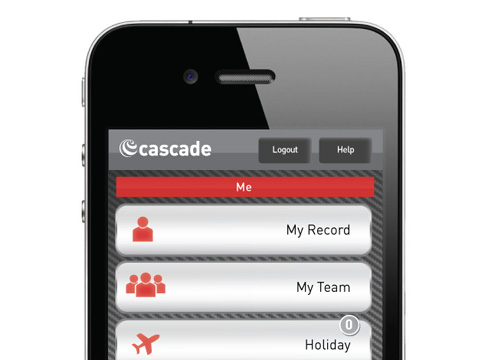Mobile App Design Cascade Hr Software Pure Creative